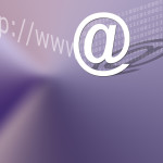 abstract background @ & internet